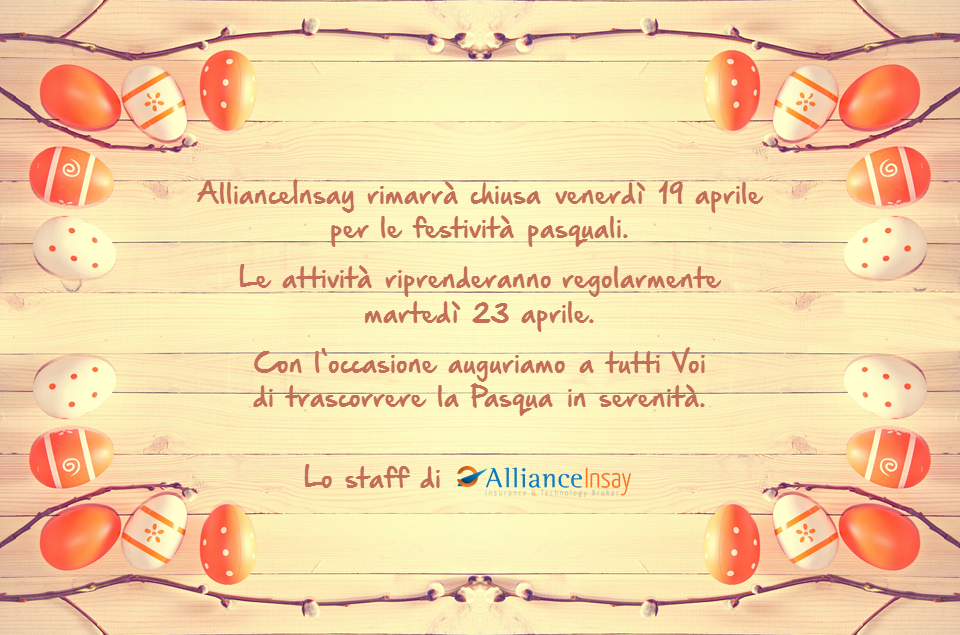 Buona Pasqua da AllianceInsay!